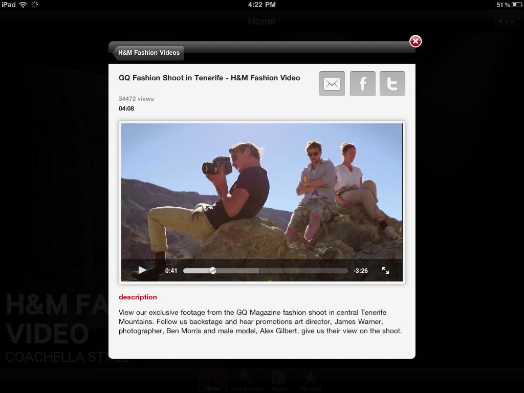 H&M iPad App - Behind the Scenes Video