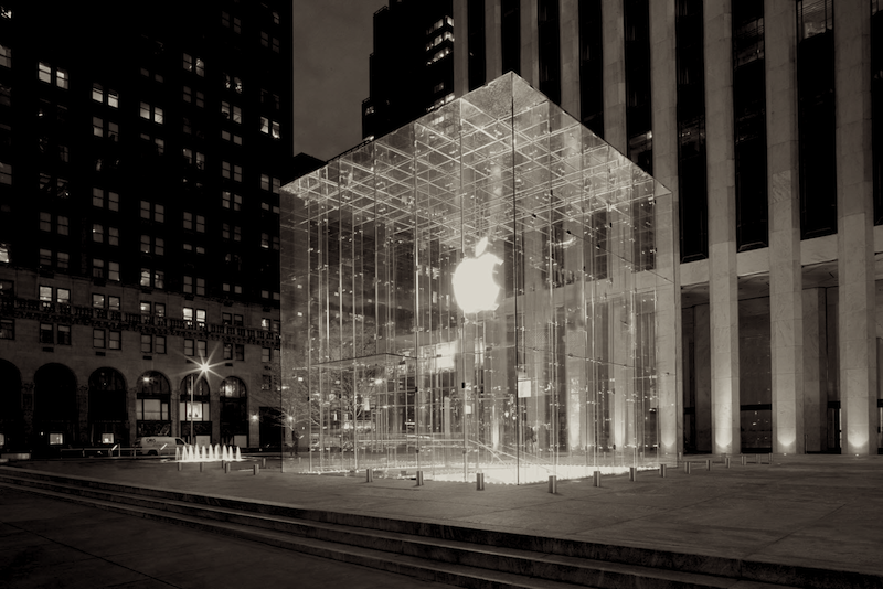 The Apple Store on Fifth Avenue.